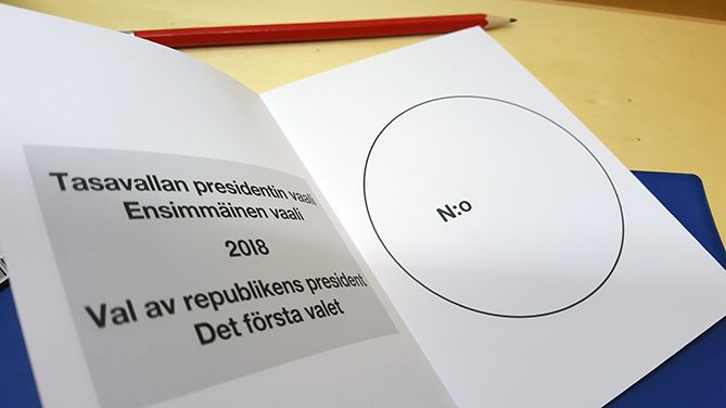 Publication of the presidential election results on Election Day